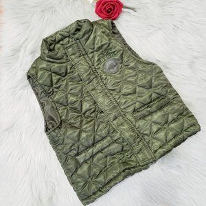 Z Boys Wear Green Military Quilted Vest Air Unit